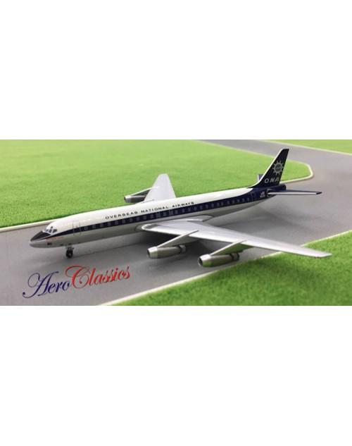 ONA Overseas National Airways Douglas DC-8-32 N831F 1/400 scale diecast Aeroclassics