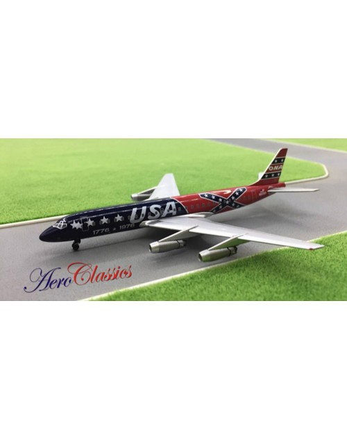 ONA Overseas National Airways Douglas DC-8-32 N1976P USA 1776-1976 1/400 scale diecast Aeroclassics