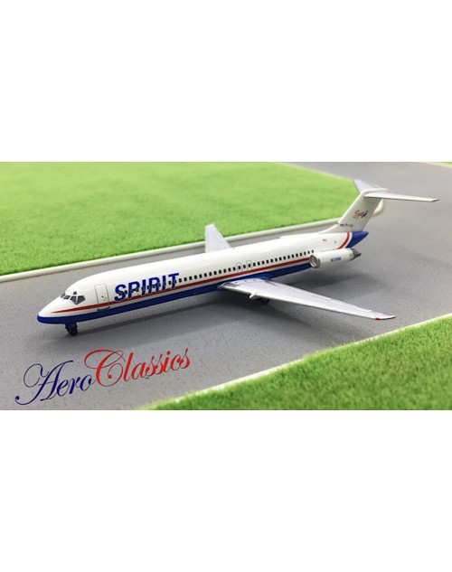 Spirit Airlines DC-9-41 N130NK 1990s colors 1/400 scale diecast Aeroclassics