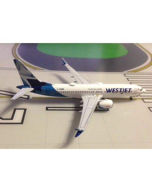 WestJet Boeing 737 Max-8 C-FNWD 2018 colors 1/400 scale diecast Aeroclassics