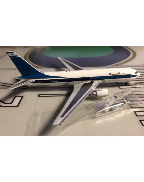 EL AL Boeing 767-258 4X-EAA 1990s, GSE/stairs 1/400 scale diecast Aeroclassics