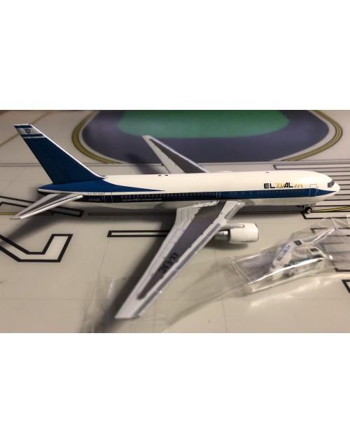 EL AL Boeing 767-258ER 4X-EAC 1990s, GSE/stairs 1/400 scale diecast Aeroclassics