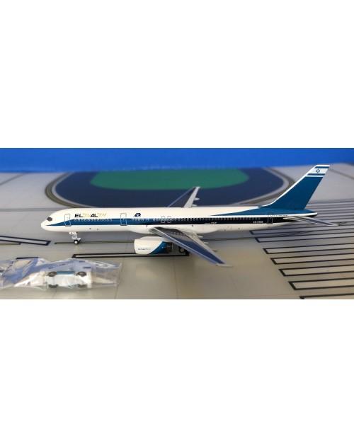 EL AL Boeing 757-258 4X-EBM Blue/Gold titles (1) 1/400 scale diecast Aeroclassics