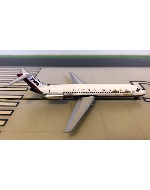 TWA Douglas DC-9-32 N996Z Final colors 1/400 scale diecast Aeroclassics