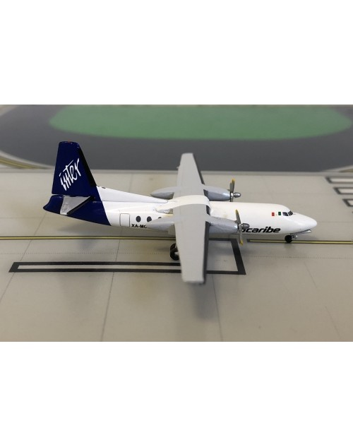 AeroCaribe Fairchild F-27 XA-MCJ final colors 1/400 scale diecast Aeroclassics