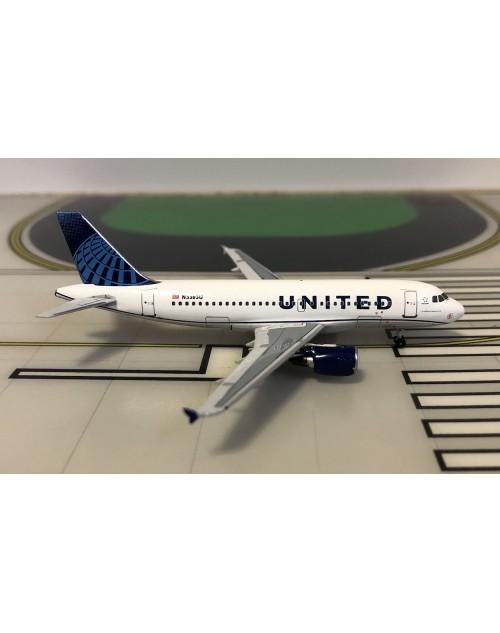 United Airbus A319-132 N876UA 2019 colors 1/400 scale diecast Aeroclassics