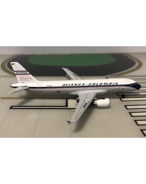 Avianca Airbus A320-214 N284AV Retro 100 1/400 scale diecast Aeroclassics
