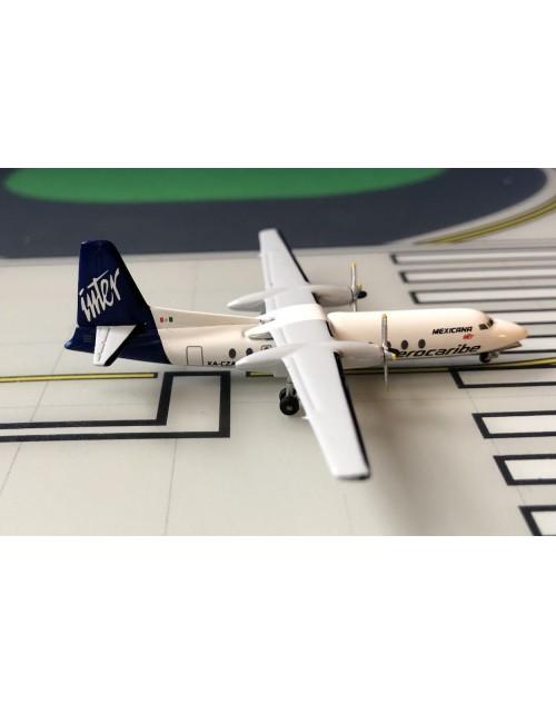 AeroCaribe Fairchild Hiller FH-227 XA-CZA Mexicana 1/400 scale diecast Aeroclassics