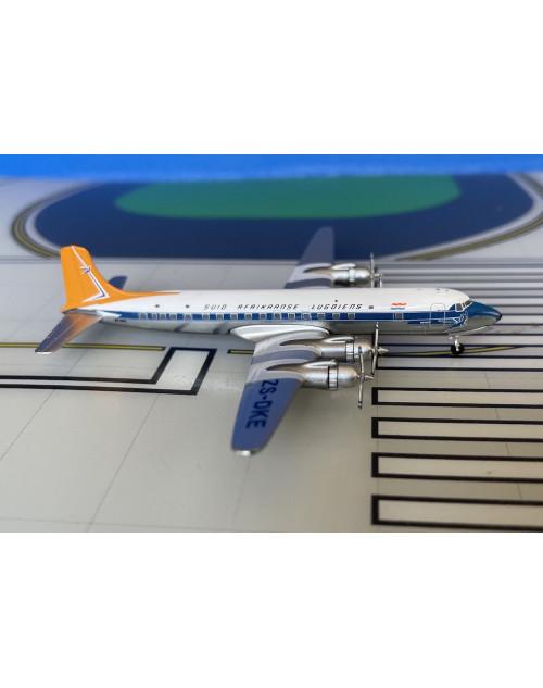 South African Douglas DC-7B ZS-DKE Final colors 1/400 scale diecast Aeroclassics