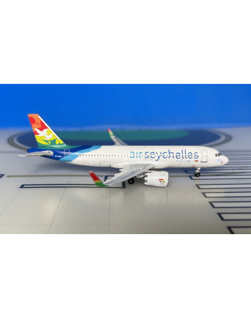 Air Seychelles Airbus A320-251Neo S7-VEV current 1/400 scale diecast Aeroclassic