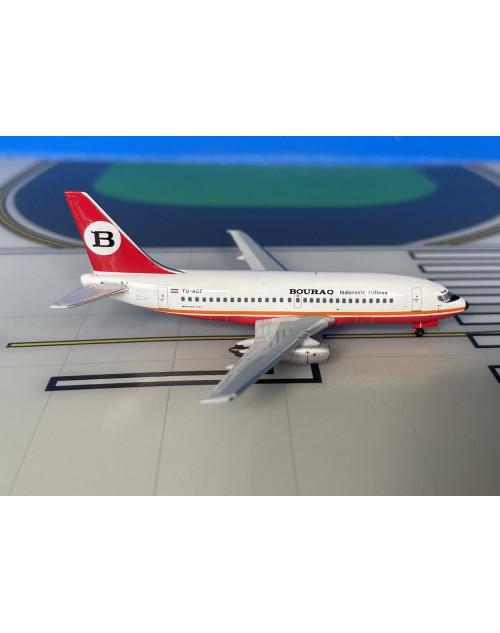 Bouraq Indonesia Boeing 737-200/Adv YU-AOF 1/400 scale diecast Aeroclassics