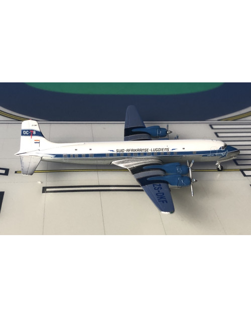 South African Douglas DC-7 ZS-DKF Delivery colors 1/400 scale diecast Aeroclassics