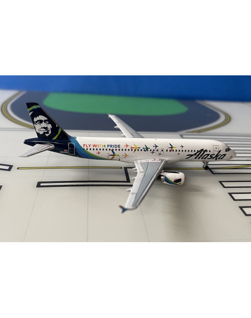 Alaska Airlines Airbus A320-214 N854VA Fly With Pride 1/400 scale diecast Aeroclassics