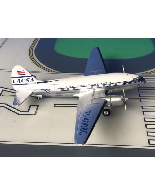 LACSA Curtis C-46 TI-4008C 1/200 scale diecast Aeroclassics/Western Models