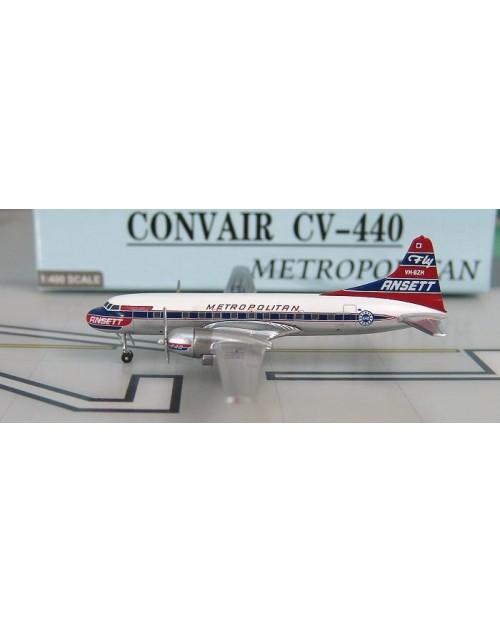 Ansett Convair 440-61 VH-BZH Metropolitan 1/400 scale diecast Aeroclassics