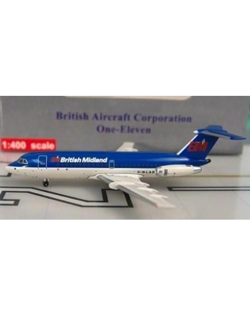 British Midland BAC-111-304AX G-WLAD 1/400 scale diecast Aeroclassics