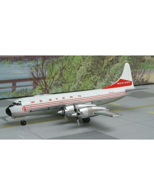 Western Lockheed L-188A (F) N97450C Indian Head 1/400 scale diecast Aeroclassics