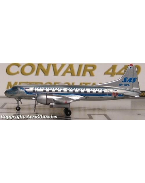 SAS Convair 440-75 OY-KPA Hans Viking 1/400 scale diecast Aeroclassics