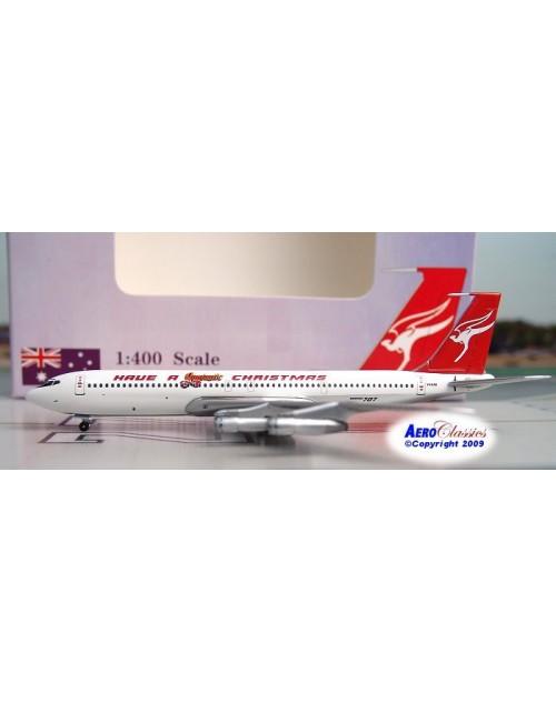 Qantas Boeing 707-338C VH-EAB Qantastic Christmas 1/400 scale diecast Aeroclassics