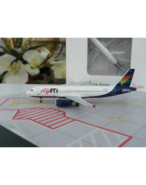 Fly FTI Airbus A320-231 D-AFTI 1/400 scale diecast Aeroclassics
