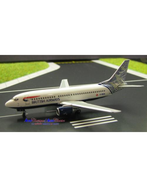 British Airways Boeing 737-36Q G-ODUS Waves and Cranes 1/400 dicast Aeroclassics