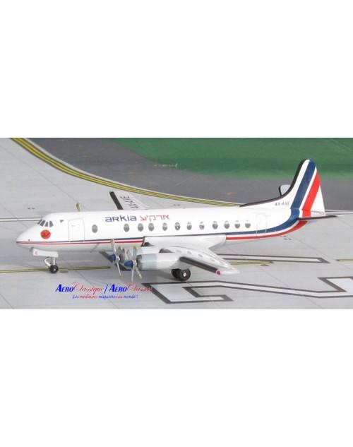 Arkia Israel Viscount 831 4X-AVE 1/400 scale diecast Aeroclassics