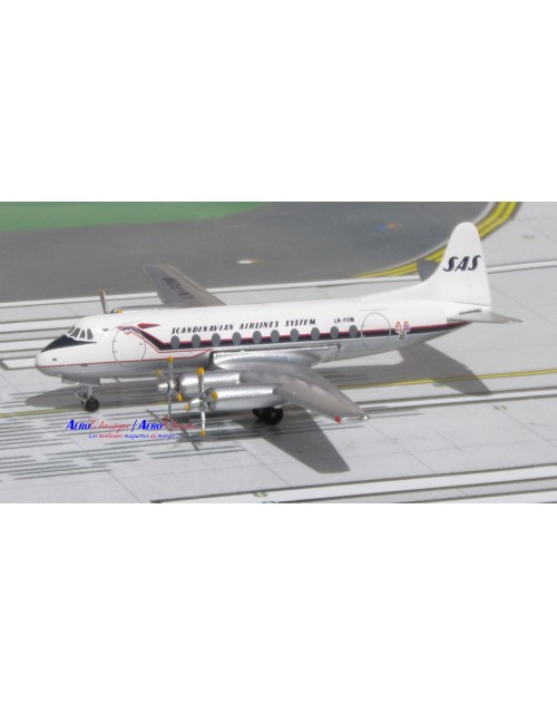SAS - Scandinavian Airlines System Viscount 779D LN-FOM 1/400 scale diecast  Aeroclassics