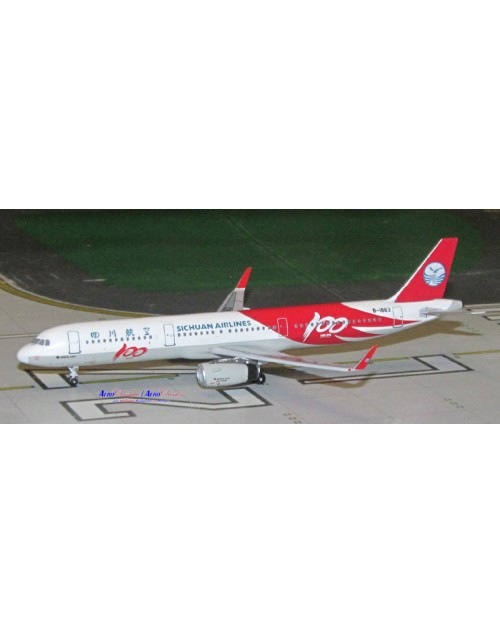 Sichuan Airlines Airbus A321-231W B-1663 100th 1/400 scale diecast Aeroclassics