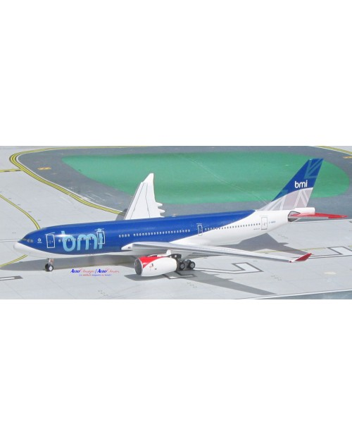 BMI British Midland Airbus A330-243 G-WWBB 1/400 scale diecast Aeroclassics