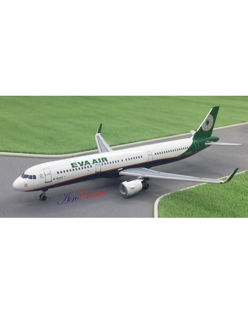 EVA Air Airbus A321-211/Sharklets B-16225 New Colors 1/400 scale diecast Aeroclassics