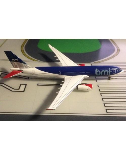 BMI - British Midland Airbus A330-243 G-WWBM 2000s colors 1/400 scale diecast Aeroclassics