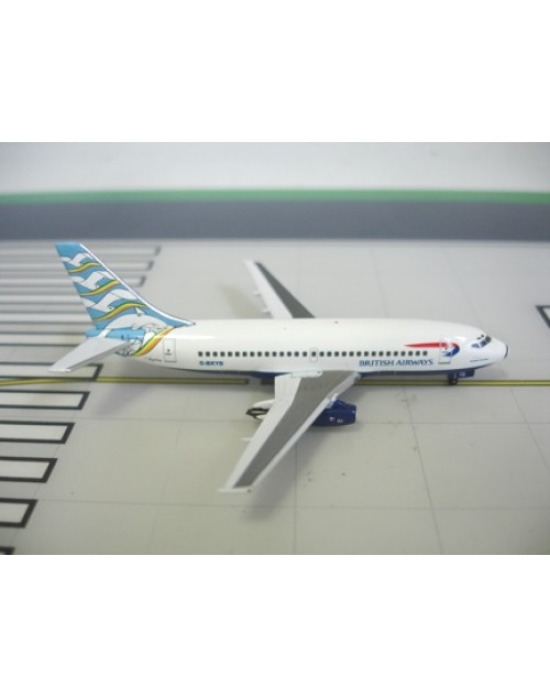 British Airways Boeing 737-236 G-BKYB Blue Poole 1/400 scale diecast Aviation 400 Models