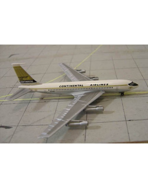 Continental Airlines Boeing 720-024B N57203 Golden Jet Tin box 1/400 Dragon Wings Models