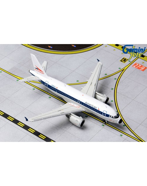 American Airbus A319-112 N745VJ with Allegheny Retro colors 1/400 scale diecast GeminiJets