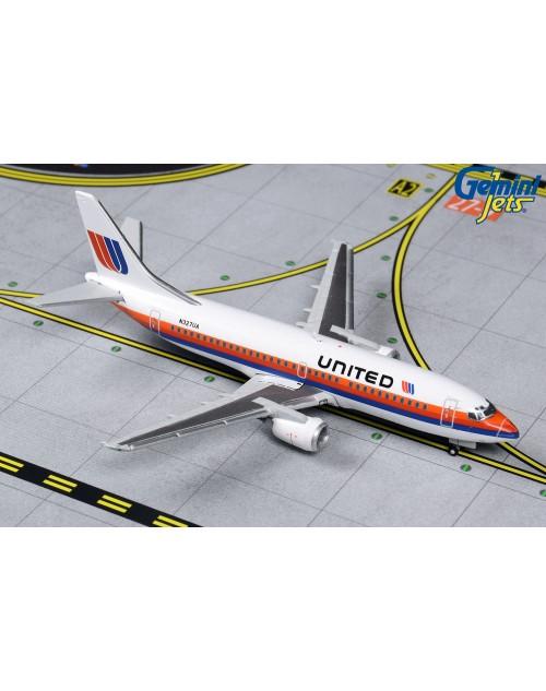 United Boeing 737-300 N327UA Saul Bass 1/400 scale dicast GeminiJets