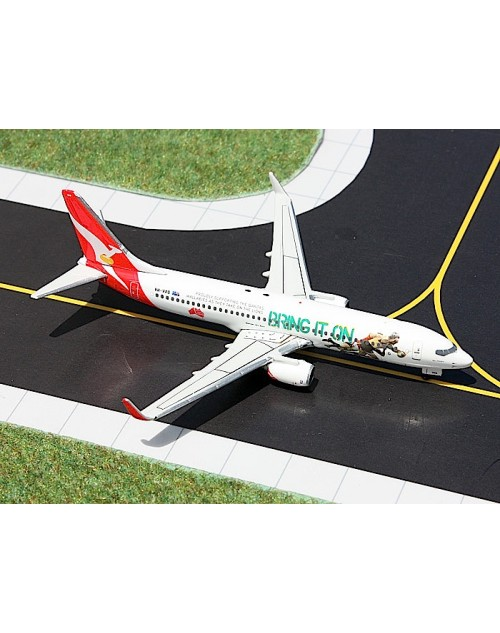 Qantas Boeing 737-838 Winglets VH-VXG Bring it on 1/400 scale diecast Gemini Jets