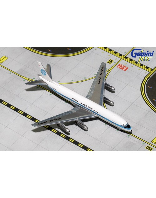 "Pan American Douglas DC-8-32 N809PA ""Jet Clipper Great Republic"" 1/400 scale diecast Gemini Jets"
