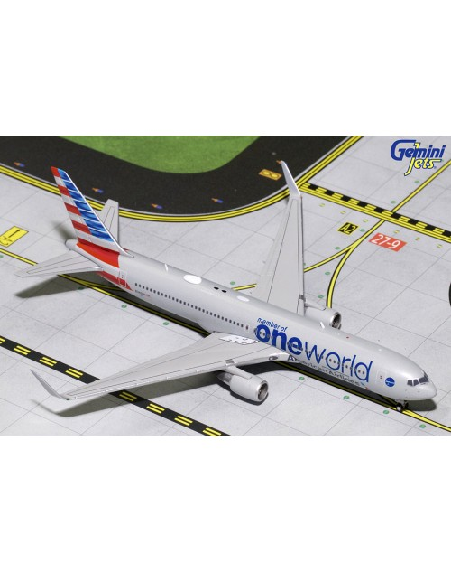 American Boeing 767-323ER (W) N343AN One World 1/400 scale diecast Gemini Jets