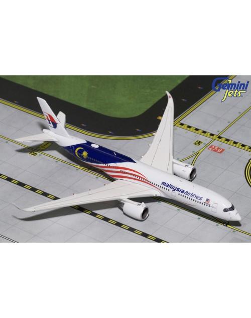 Malaysia Airlines Airbus A350-941 9M-MAC Negaraku 1/400 scale diecast Gemini Jets