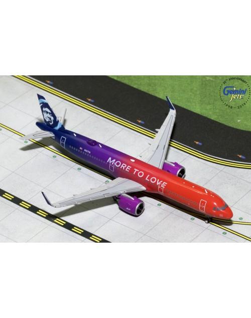Alaska Airbus A321-253NEO N927VA More to Love 1/400 scale diecast GeminiJets