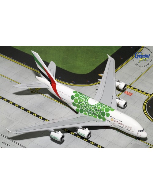 Emirates Airbus A380-800 A6-EEW Expo 2020 Green 1/400 scale diecast Gemini Jets