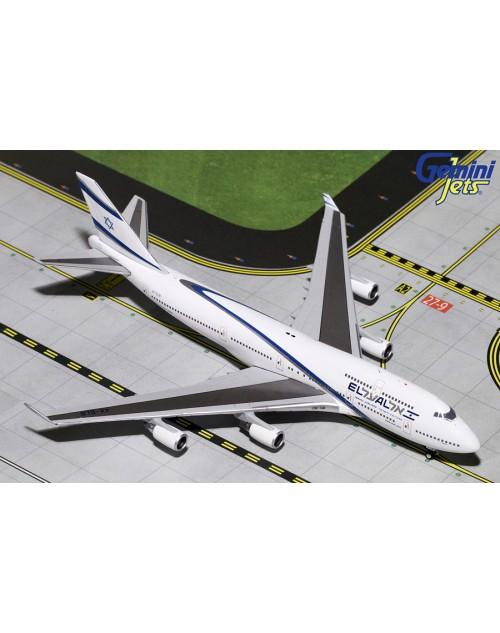EL AL Boeing 747-458 4X-ELB 1/400 scale diecast Gemini Jets