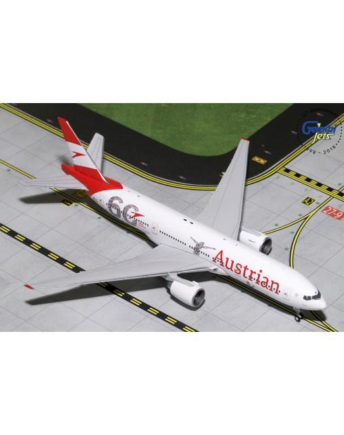 Austrian Boeing 777-2Q8ER OE-LPF 60th anniversary 1/400 scale diecast Gemini Jets