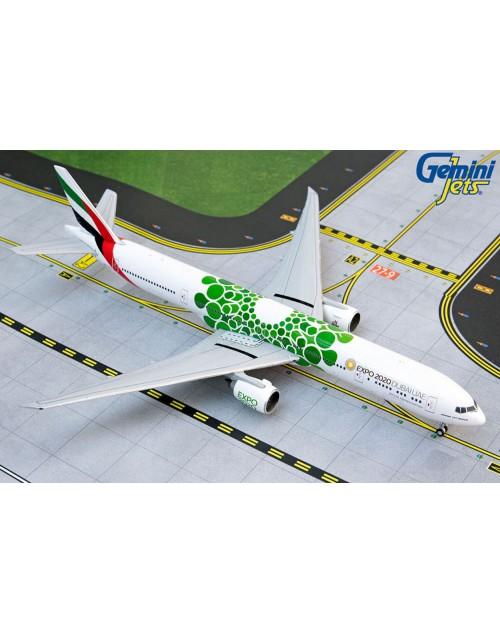 Emirates Boeing 777-300ER A6-EPU Green Expo 2020 1/400 scale diecast GeminiJets