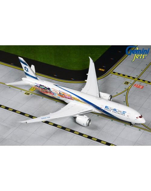 EL AL Boeing 787-9 4X-EDD San Francisco/Las Vegas 1/400 scale diecast GeminiJets