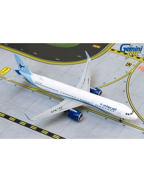 Interjet Airbus A321neo (A321-251N) XA-MAP 1/400 scale diecast Gemini Jets