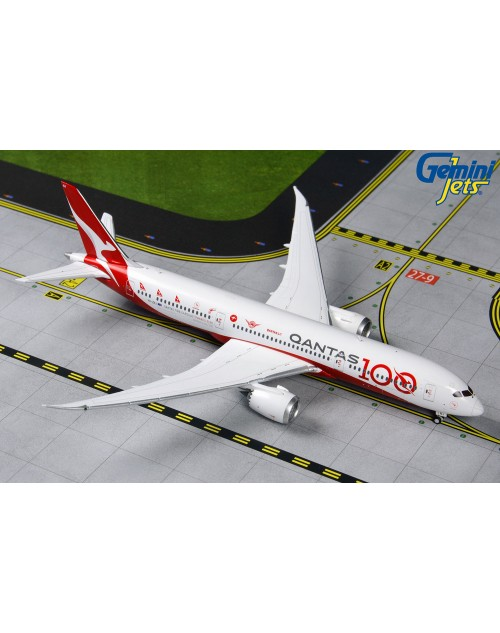 Qantas Boeing 787-9 VH-ZNJ 100 with logos 1/400 scale diecast GeminiJets