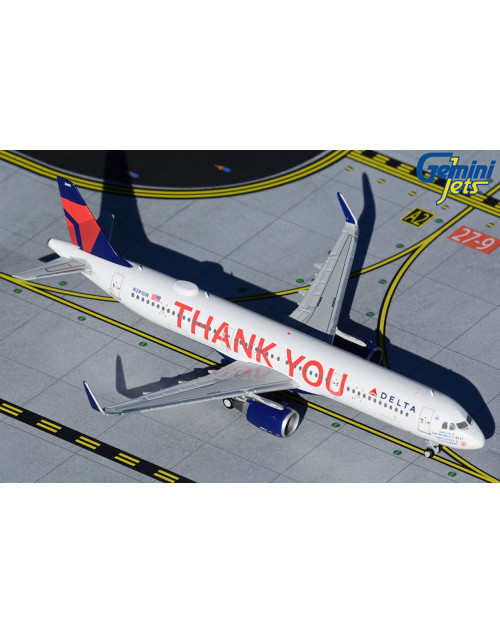 Delta Airbus A321-211 Sharklets N391DN Thank You 1/400 scale diecast GeminiJets