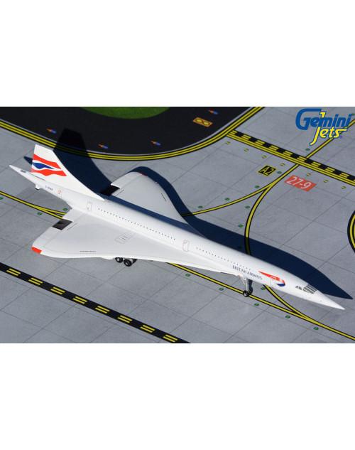 British Airways Concorde, G-BOAB Union Flag 1/400 scale diecast Gemini jets