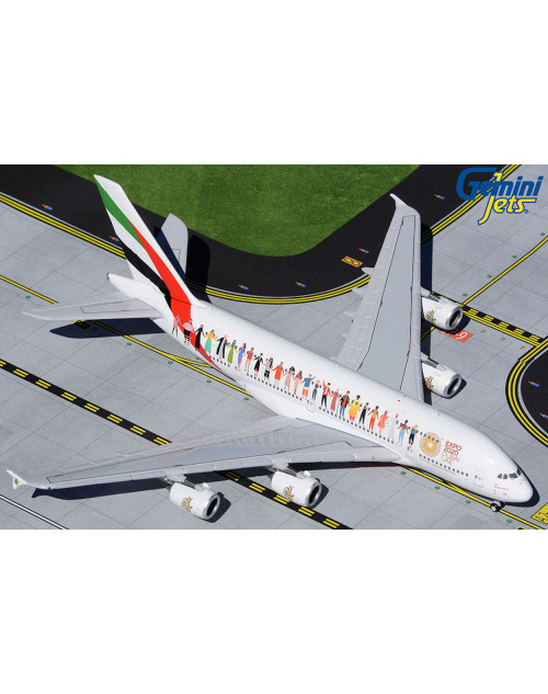 Emirates Airbus A380-800 A6-EVB Year of Tolerance 1/400 scale diecast Gemin Jets